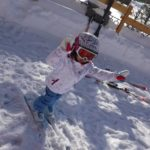 パパスキーヤーの子供スキー教室「➁ゲレンデデビューの最初の一歩は平らなところから」