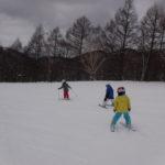 パパスキーヤーの子供スキー教室「④緩斜面から滑ってみよう!!ハの字で滑る3つの基本」