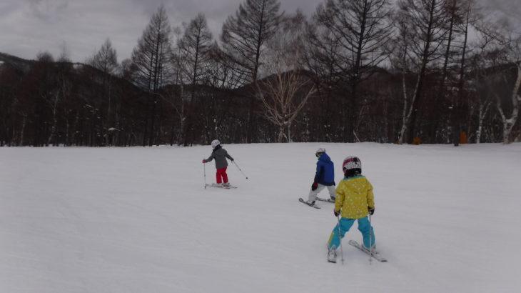 パパスキーヤーの子供スキー教室「初級編④緩斜面から滑ってみよう!!ハの字で滑る3つの基本」