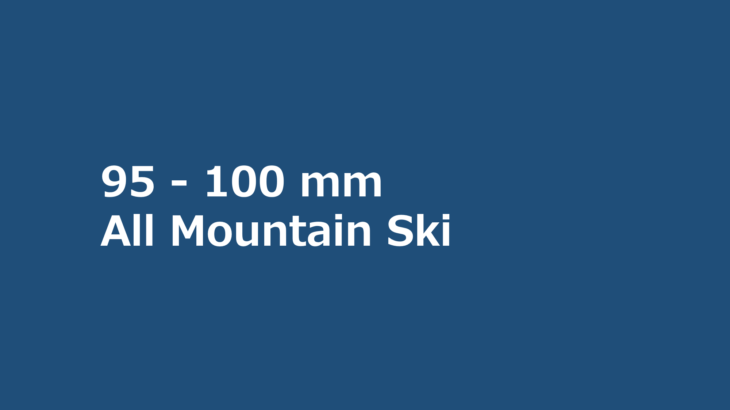パパスキーヤーのスキー選び「19/20 95-100mmオールマウンテンモデル」