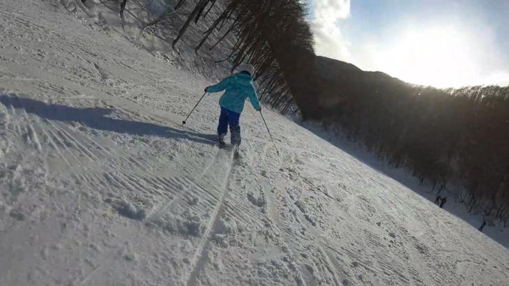パパスキーヤーの子供スキー教室「中級編⑤1日でできるカービングターン練習」